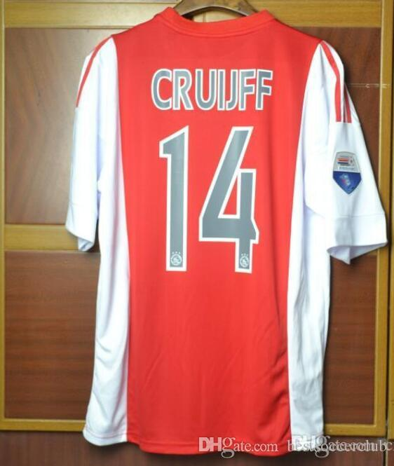 new style 182bb c952e 16 17 Johan Cruyff Ajax Soccer Jersey 2016 2017 Cruyff Netherlands  voetbalshirts De Jong De Ligt Neres Voetbal Ajax Shirts Football Maillot