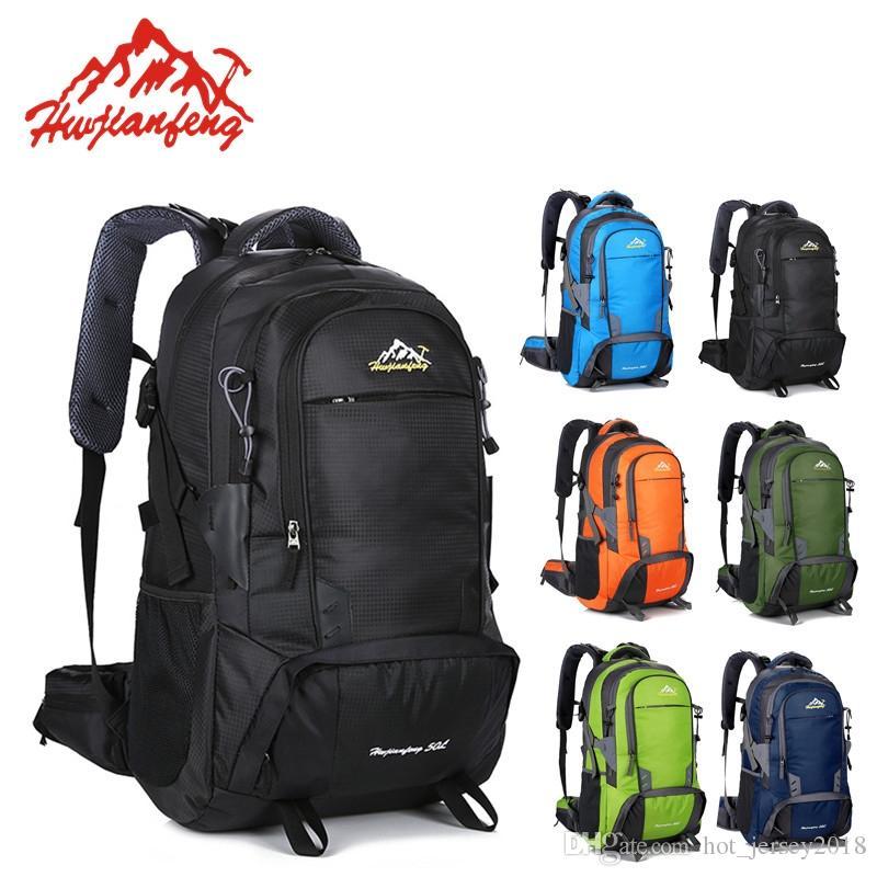 28babecb6e 2019 50L Outdoor Bag Men Camping Bag Women Hiking Roller Backpack Travel  Equipment Sport Climbing Rucksack Big Load Mochila  303402 From  Hot jersey2018