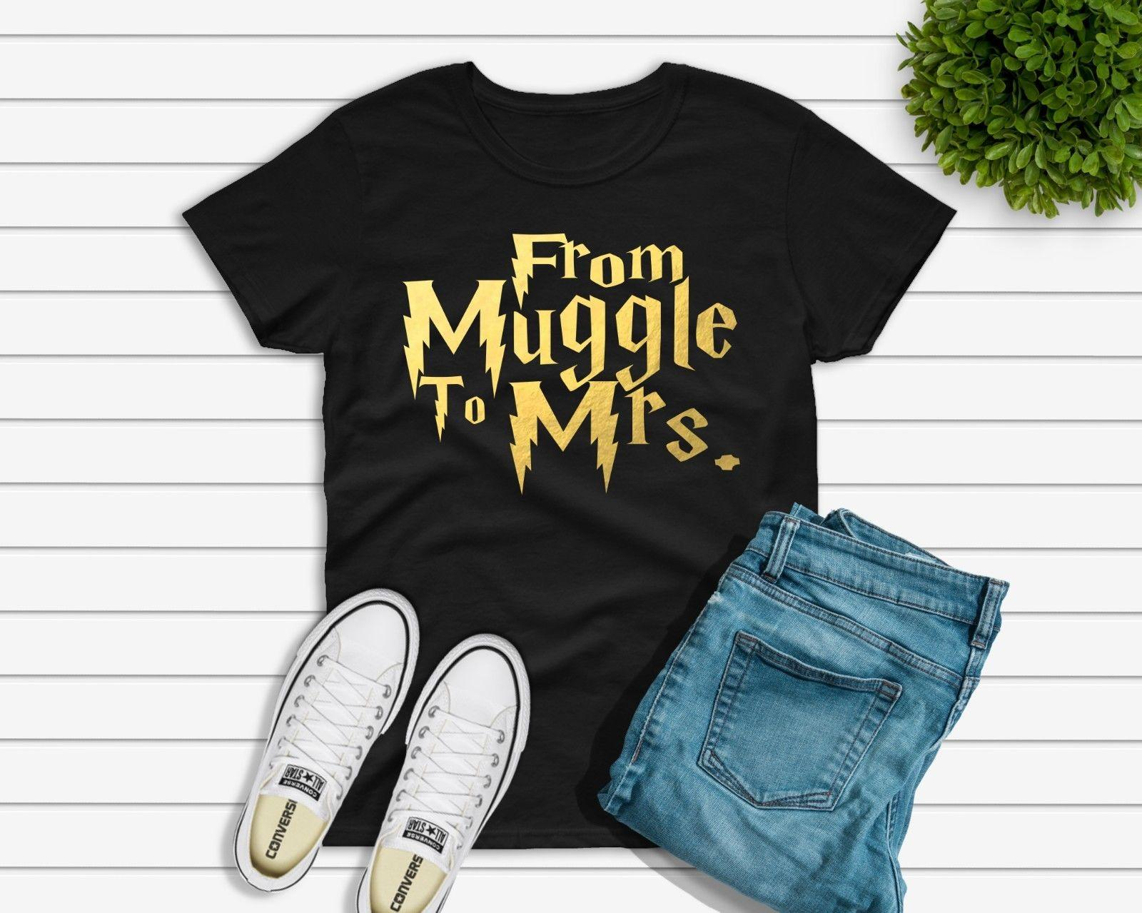 From Muggle To Mrs T Shirt Diy Iron On Vinyl Transfer Hen Party