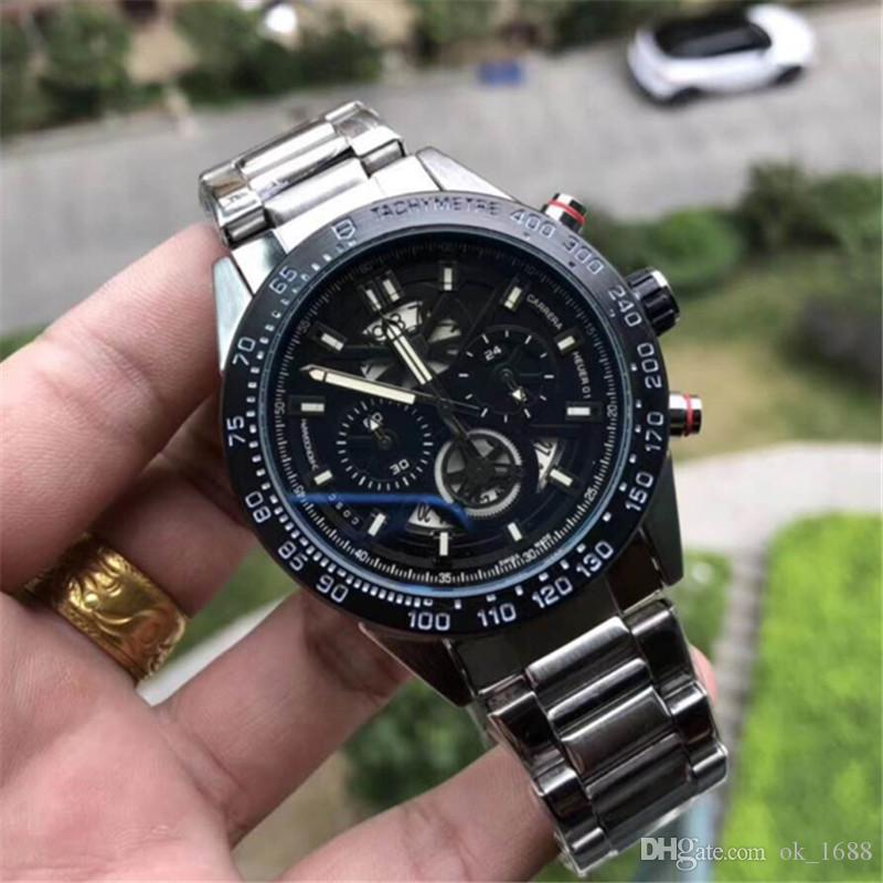 2c704c4be6f All Subdials Work AAA Mens Fashion Classic Chronograph Stainless ...