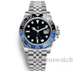 Hot Sale Mens Wristwatch Blue Black Ceramic Bezel Stainless Steel Watch 116710 Automatic GMT Movement Limited Watch New Jubilee Master