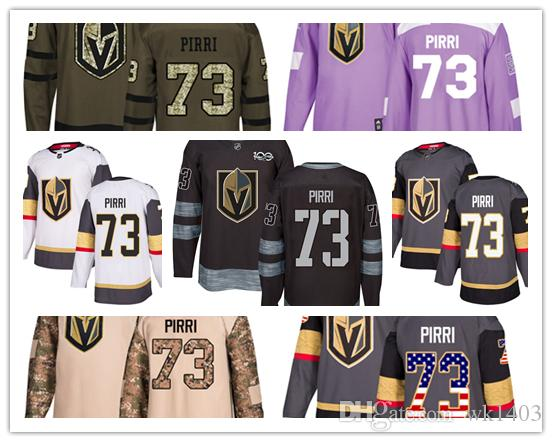 cheap for discount db733 ee0e8 Vegas Golden Knights jerseys #73 Brandon Pirri jersey ice hockey men women  gray white black Authentic winter classic Stiched gears Jersey