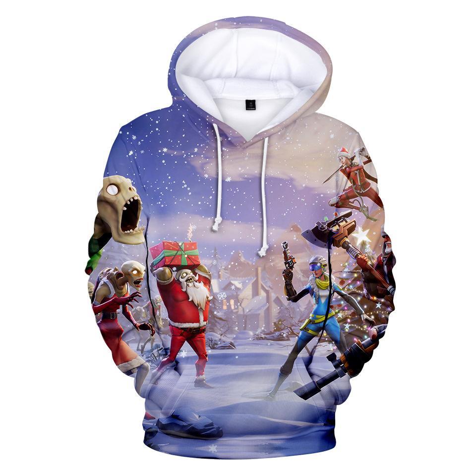 a36f7c1db8b6 Christmas Battle Royale Game 3D Hoodies Men Streetwear Hip Hop Warm Hooded  Sweatshirts Casual Hoodies Children Printed Hoodie Online with  46.38 Piece  on ...