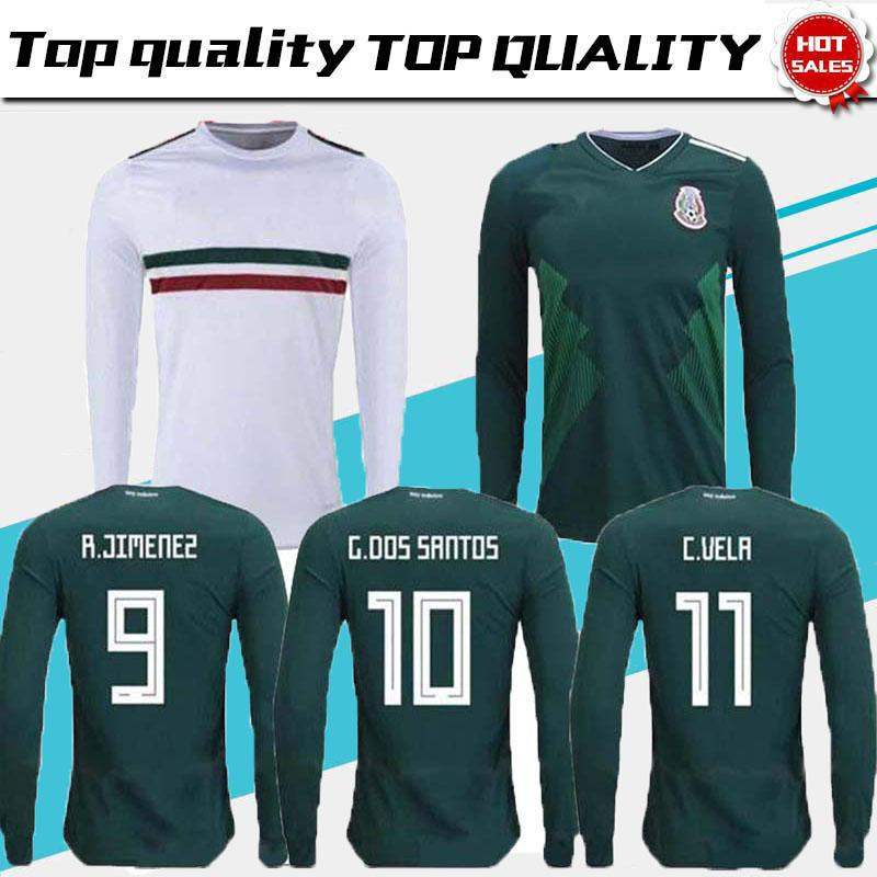 157c025a3b3 TOP QUALITY 2018 World Cup Mexico Home Away Soccer Jersey Long ...