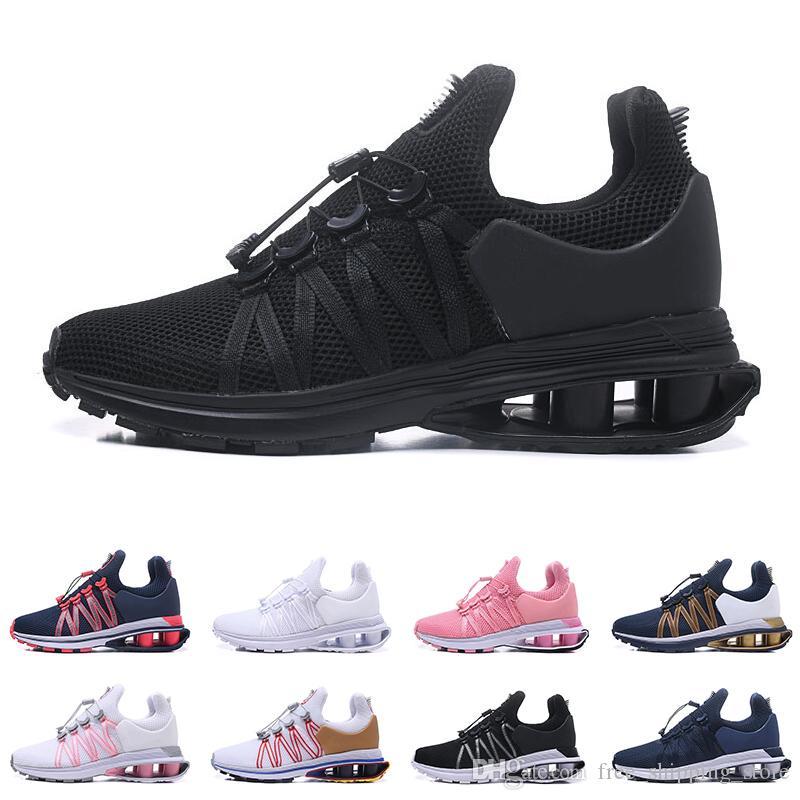 7d9fda954f8 Compre Nike Shox Air Run GRAVITY Zapatillas De Correr Transpirables Para  Hombres Mujeres Zapatillas De Deporte Para Hombre Entrenadores Triple Negro  Blanco ...
