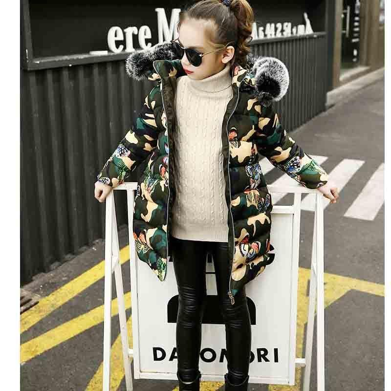 cd49f311a526 Good Quality Children Girls Snow Jackets Girls Printed Butterfly ...