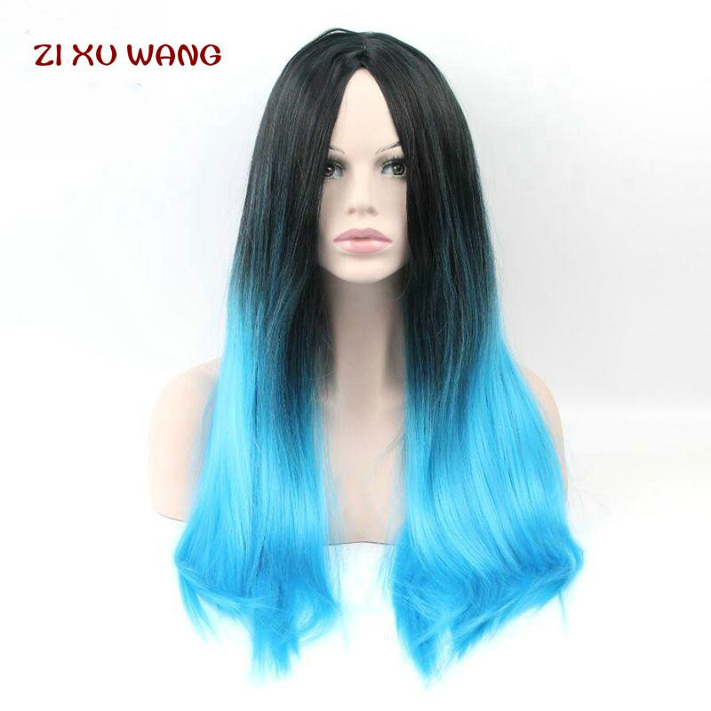 Fashion Cheap Ombre Designer Wig Straight Long Synthetic Wigs for ... a9f998d0f