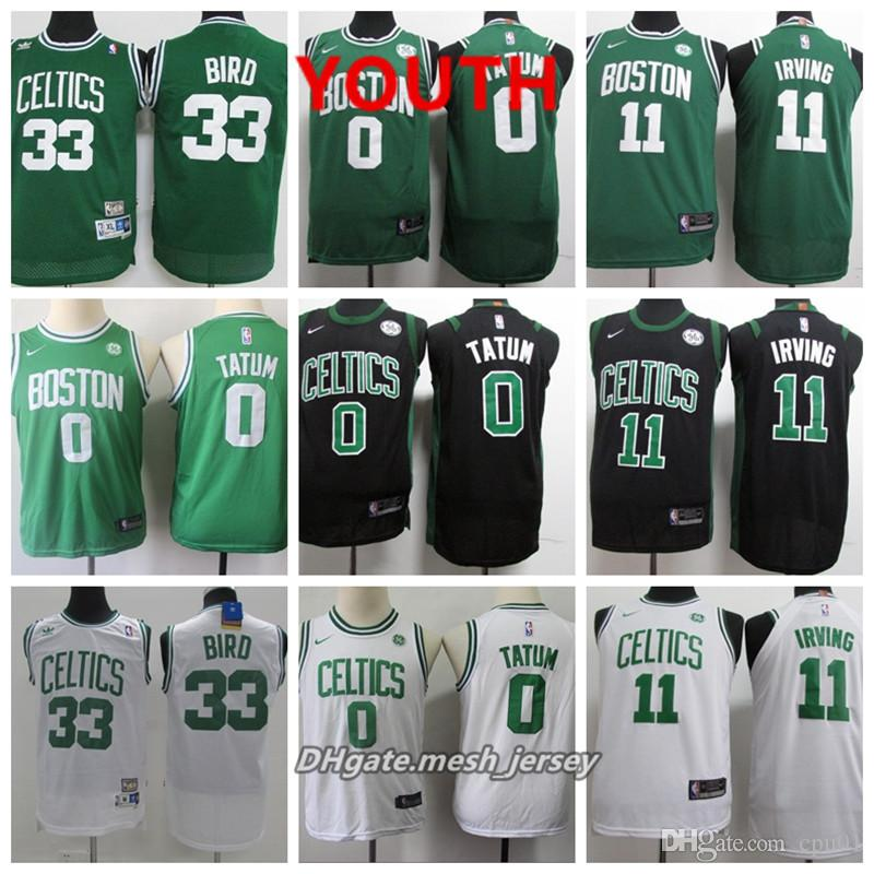 Youth Boston Jersey Celtics Kyrie Irving Jayson Tatum Jaylen Brown ... 9442f3e40