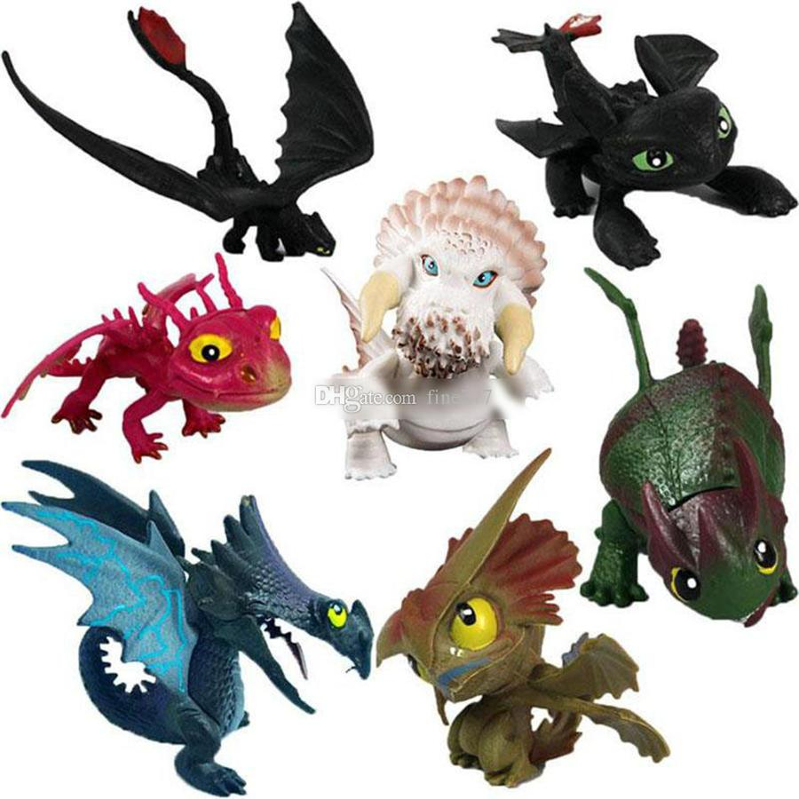 7pcs/set How To Train Your Dragon 3 Action Figures Toys Toothless Skull Gronckle Deadly Nadder Night Fury Dragon Figures kids toys