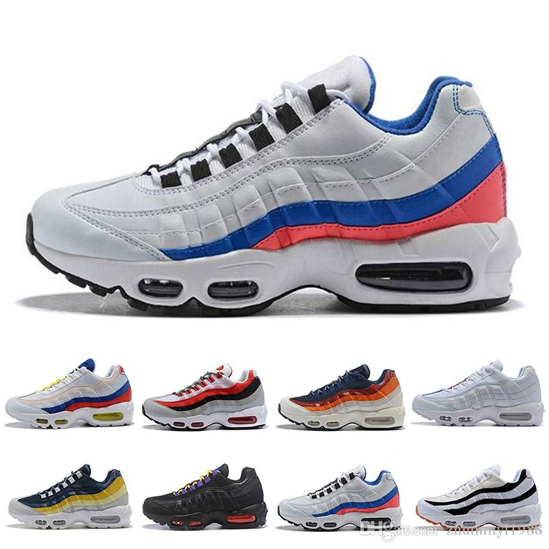 cheap for discount 92e0f 69f9a Acheter 2018 Nike Air Max 95 95 Chaussures De Course Hommes Casual 95 Plus  Chaussures De Sport Hommes Femmes Athlétique Snerkers Randonnée Jogging  Marche En ...