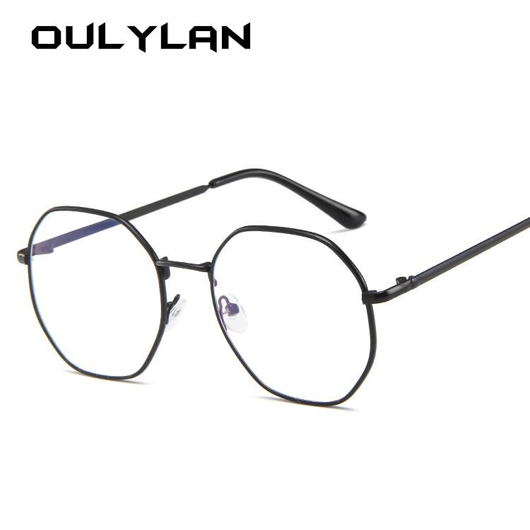 808f610f3958 2019 Oulylan Anti Blue Light Glasses Frame Women Classic Metal Design  Polygon Eyeglasses Female Gold Silver Spectacle Frames Unisex From  Xiamenwatch