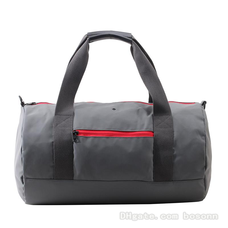 c960e2235ff3 Travel Duffel Bag Waterproof Weekend Overnight Gym Sports Bag PU Leather  Tote Carryon Luggage For Men Women Grey Women Bags Leather Bags For Men  From Bosonn ...
