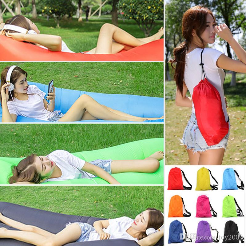 Lounge Sleep Bag Lazy Inflatable Beanbag Air Sofa Chair Living Room Bean Bag Cushion, Outdoor Self Inflated Beanbag Furniture kids toys