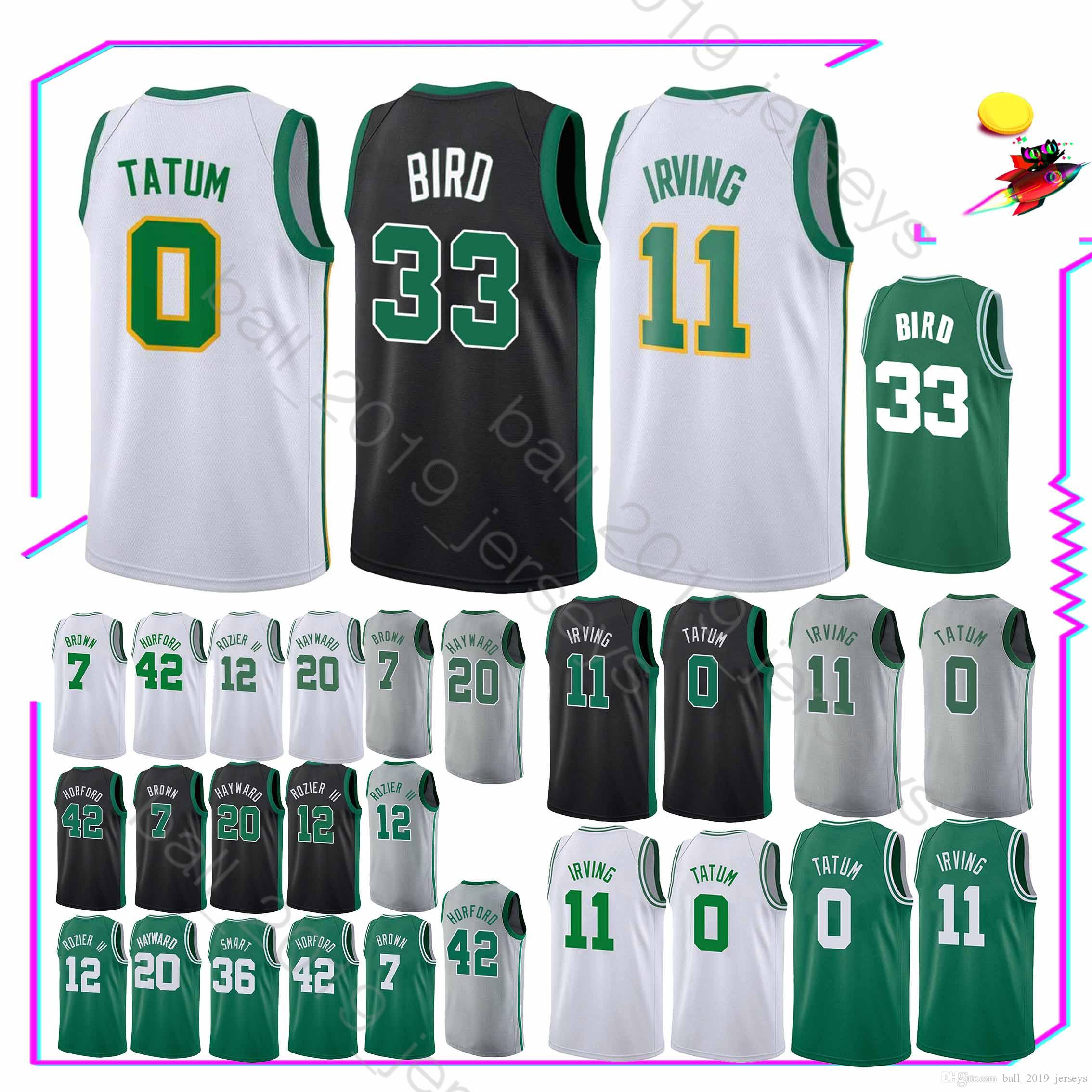 new styles 37859 3d693 Boston jerseys Celtic Jayson 0 Tatum jersey 11 Irving Larry 33 Bird Gordon  20 Hayward jerseys
