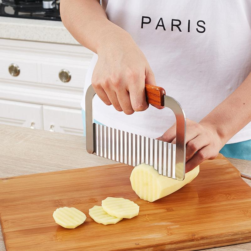 Slicer Chopper French fries knife Stainless Steel Potato Cutter Cut Silk Wave Knife Shredding Chips Shredders Vegetable Fruit Tools P
