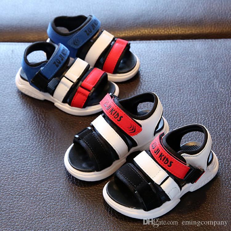 d22689ae50 Kids Sandals Kid Designer Shoes Breathable Comfortable Infant Boys Girls  Beach Sandal Toddler Shoes Chaussures Pour Enfants Girls Boots Online  Children ...