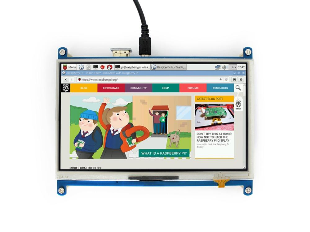 Waveshare 7 HDMI LCD 1024 * 600 Resistive Touch Screen for Raspberry Pi  HDMI interface work as computer monitor