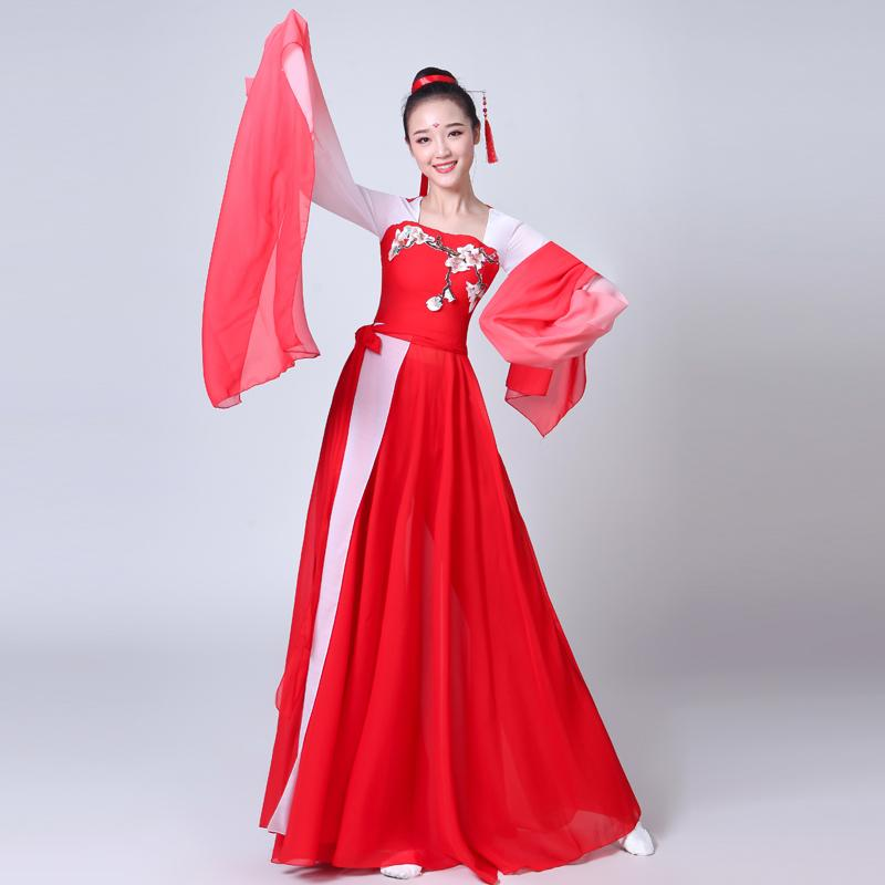Brand Ladies Dance Dress, Sleeve Dance Costume, Classical Costume, Female Chinese Style, 2019, Fresh And Elegant