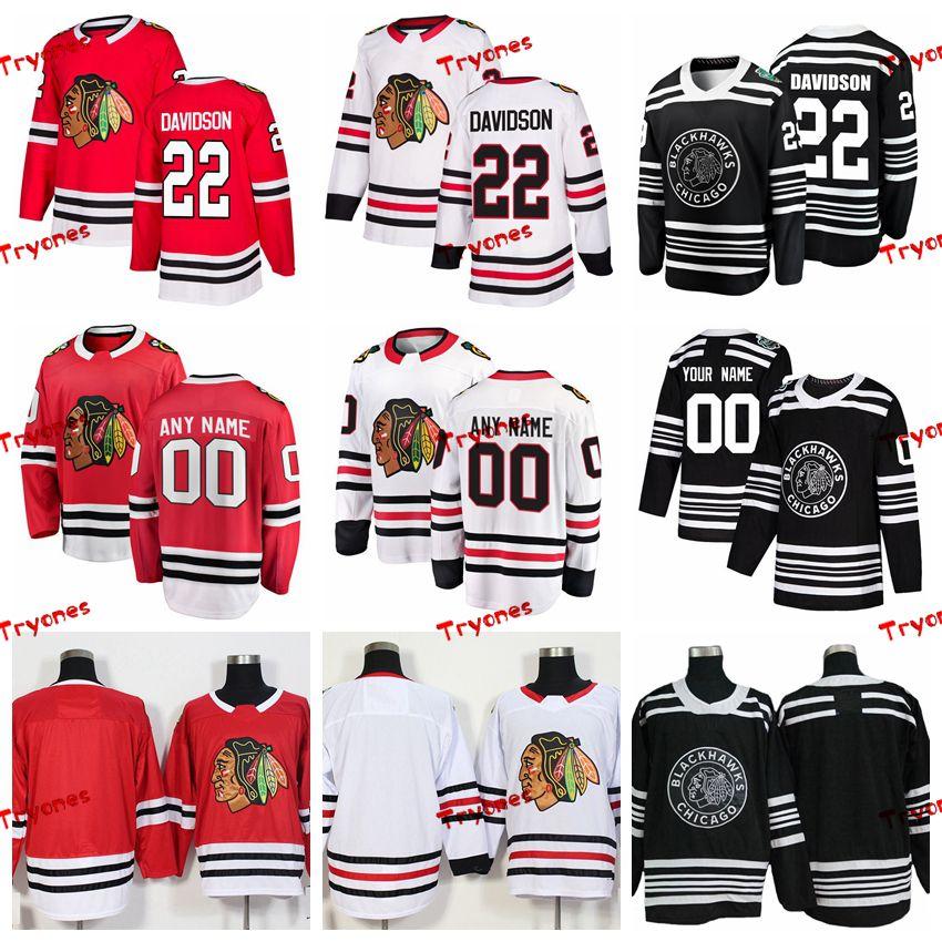 2019 2019 Winter Classic Chicago Blackhawks Brandon Davidson Stitched  Jerseys Customize Home Red Shirts 22 Brandon Davidson Hockey Jerseys S XXXL  From ... 3b7857237