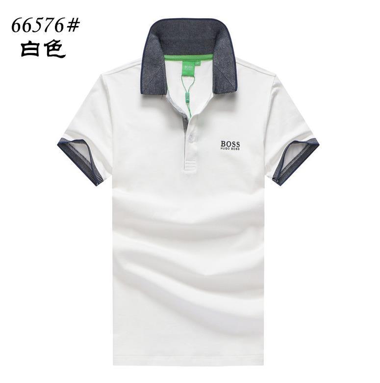 ac069873aa27 Compre 2018 Verano Puro Algodón Moda BOSS Camiseta Cuello Redondo Color  Puro Xia Bordado Paul Camisa Para Hombre Manga Corta POLO Camiseta Hombre  666 A ...