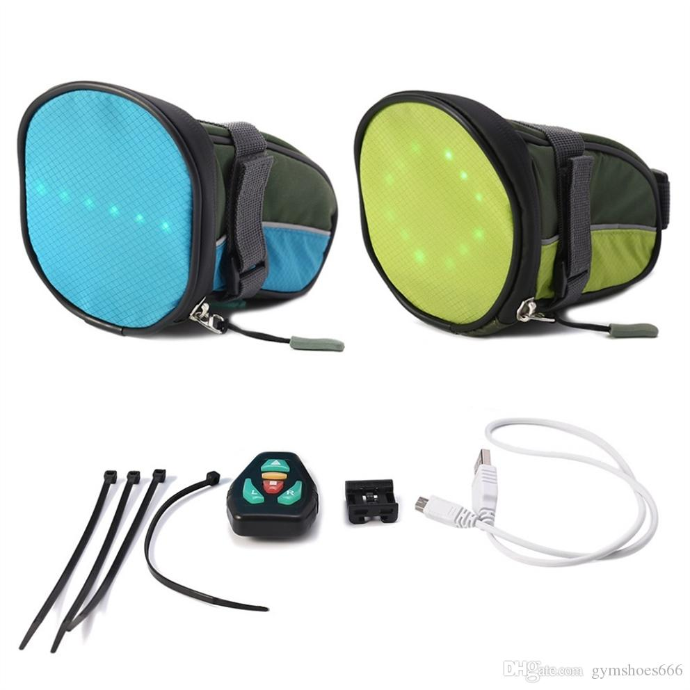 Cycling Bicycle LED Safety Saddle Backpack Bag LED Turn Signal Light Reflective Vest Bag for Safety Night Cycling #292879