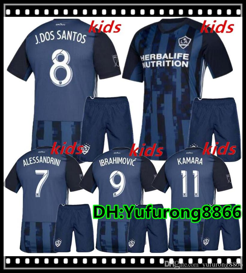 quality design dd30e eda08 kids 2019 MLS LA Galaxy Soccer Jersey KIDS Kit 19 20 Los Angeles Galaxy  IBRAHIMOVIC GIOVANI DOS SANTOS KAMARA Football Jerseys