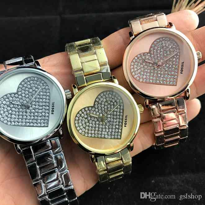 7ed7f62174f Hot Ladies Luxury Watches Rose Gold Stainless Steel Casual Ladies Watches  Famous Brand Quartz Watch High Quality Dress Bracelet Female Clock Women s  Watch ...
