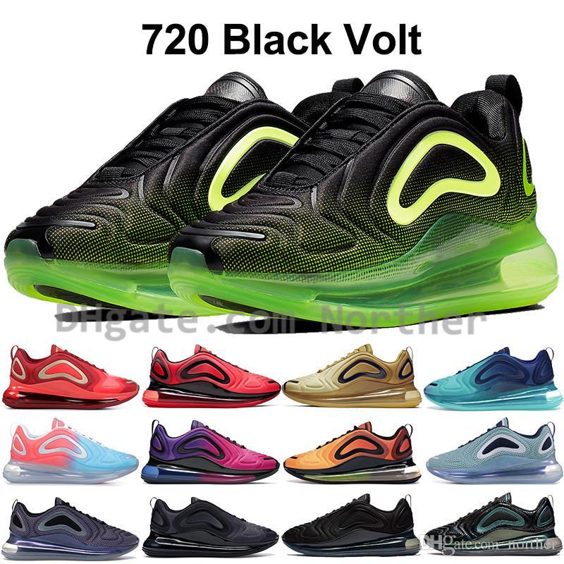 Retroceso futuro Nike air max 720 zapatillas para hombre luna iridiscente aurora boreal mar bosque diseñador zapatos para mujer rosa mar puesta de sol