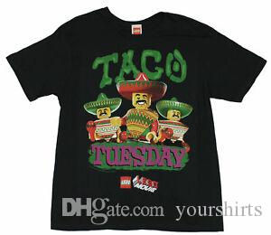 "The Lego Movie Mens T-Shirt - ""Taco Tuesdays!"" 3 Lego Amigos Image"