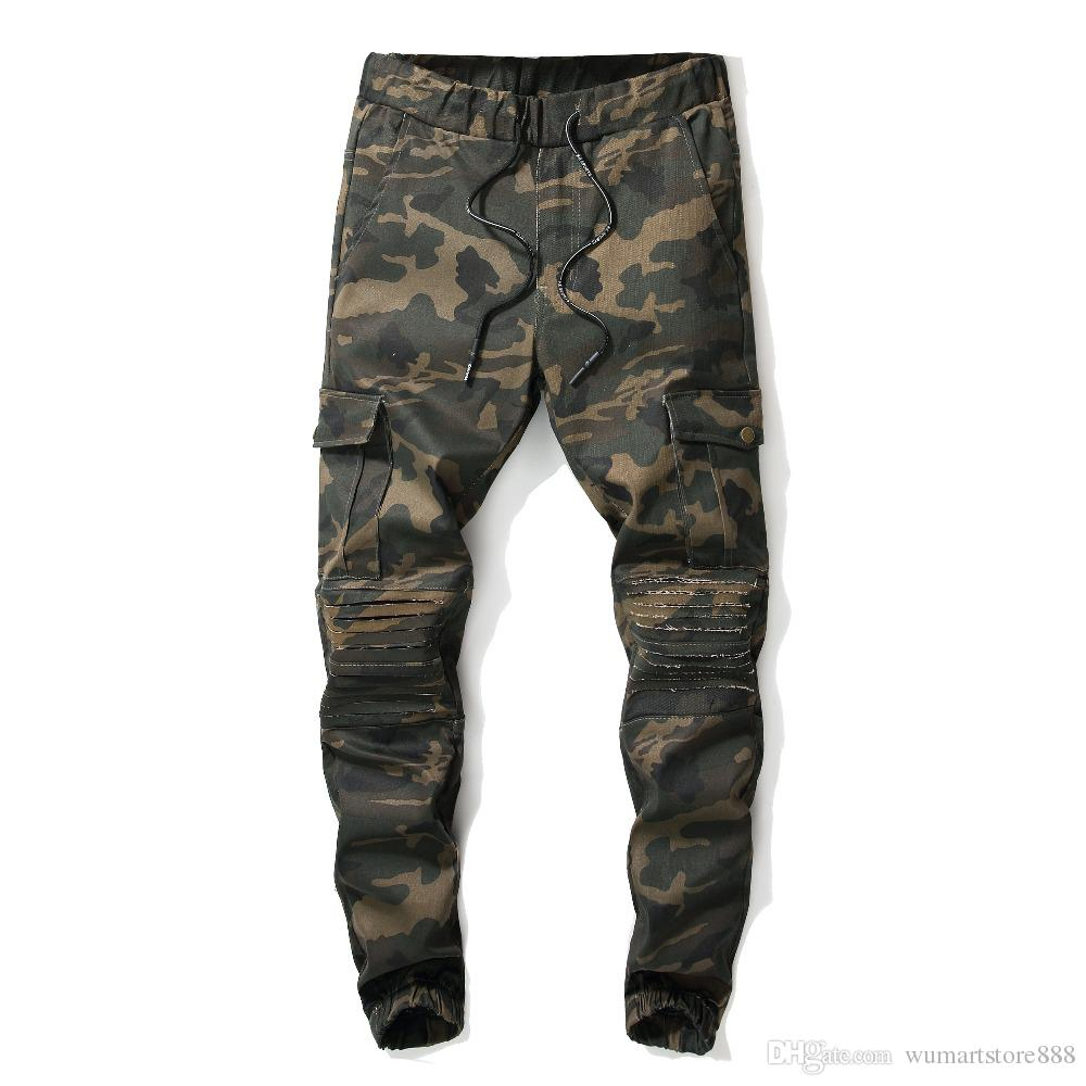 2019 New Pants Men Camouflage Military quality Cotton Spring Autumn Harem Pant Trousers Camo Male fashion personality pants
