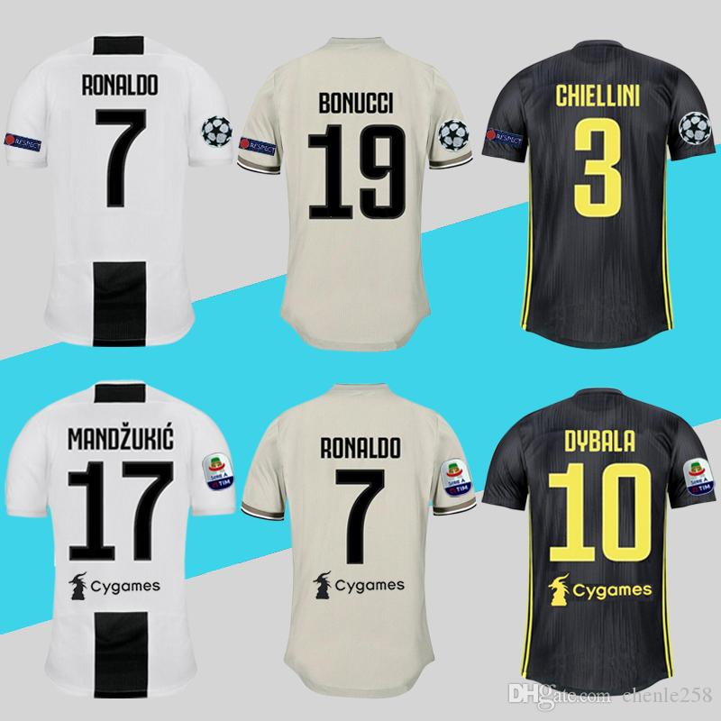 2019 Player Version Juve Juventus Jersey 2018 2019 Soccer Shirt Home Away  Third Ronaldo Maillot De Foot Free DHL Shipping Above From Chenle258 55d1d3ab5
