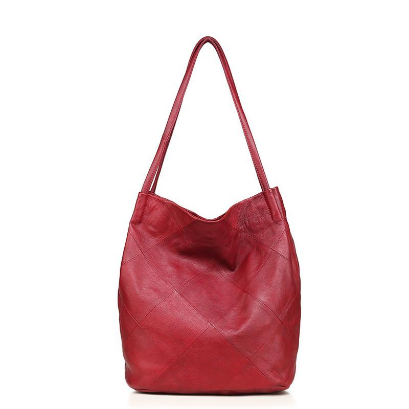 2b3995c7e9f8 Women Handbag Genuine Leather Shoulder Crossbody Bag Female Large Messenger  Bags Ladies Hobos Top Handle Tote Bag 2019 Briefcase Leather Backpack From  ...