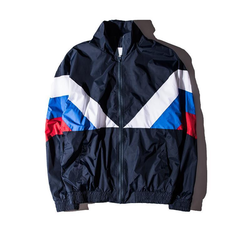 2018 nueva chaqueta mujer hombre 1: 1 alta calidad bandera rusa 100% algodón chaqueta rompevientos chaqueta D19010501