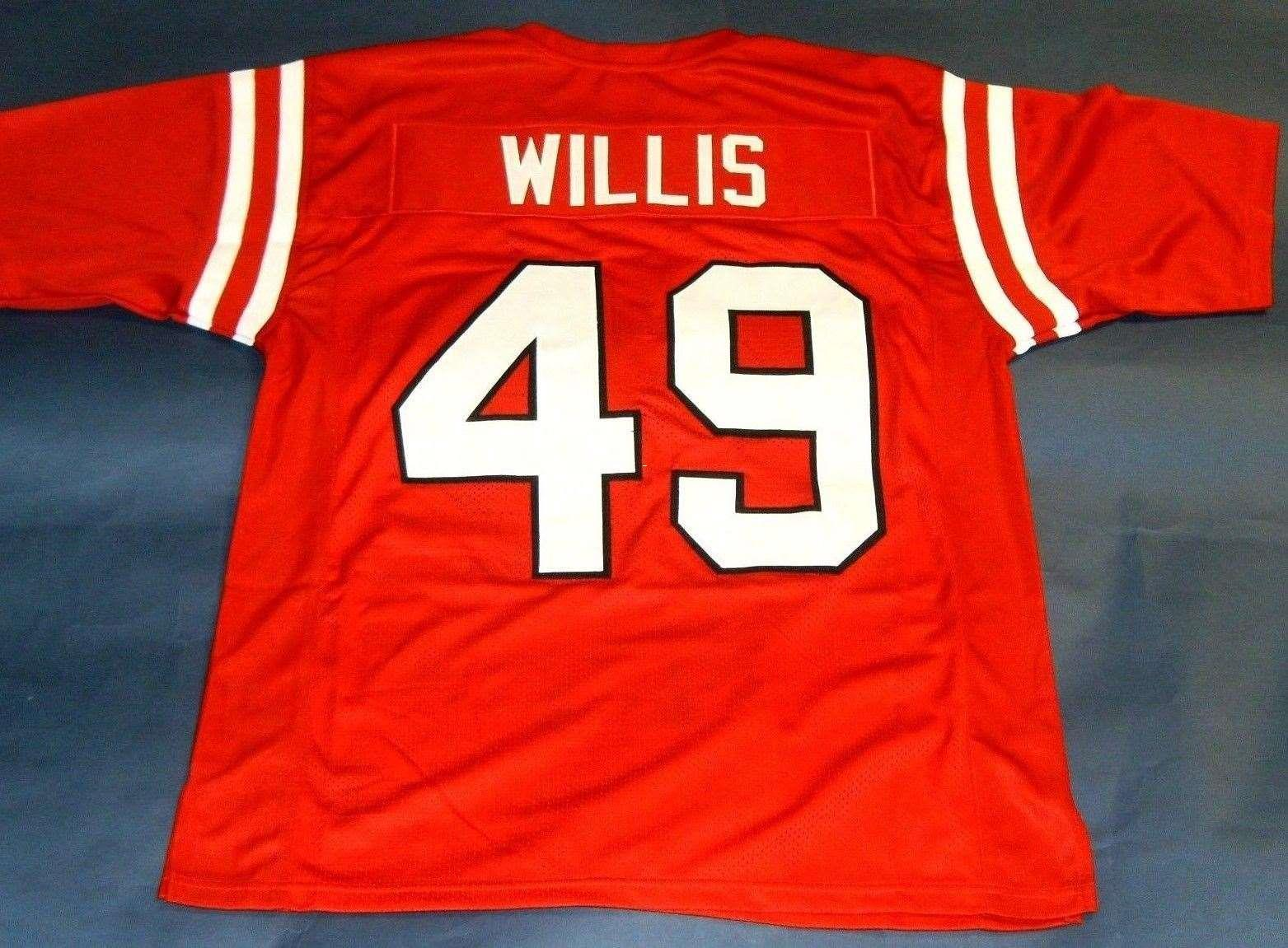 a24565eb5f0 2019 Cheap Retro  49 PATRICK WILLIS CUSTOM MISSISSIPPI REBELS JERSEY OLE  MISS Red Mens Stitching College Size S 5XL Football Jerseys NCAA From  Hyckjjersey