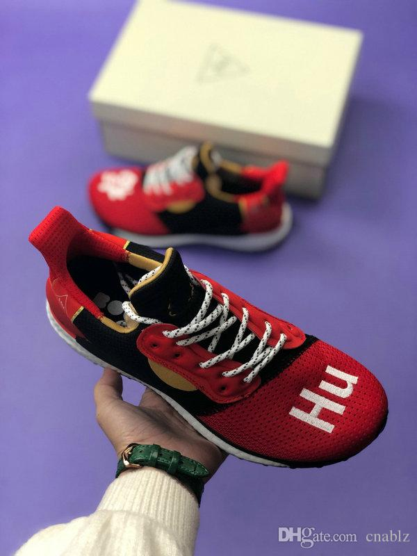 6dbc8ad3c 2019 Hu Inspiration Pack Human Race Pharrell Williams Running Shoes Mens  Womens Sport Sneakers BBC Solar Hu Glide Chinese PW Trail Sports Shoes  Running ...