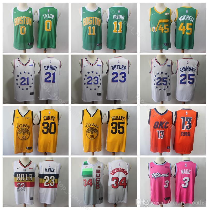 e9ed2f1f6 2019 Basketball Earned Edition Jerseys Celtics Kyrie 11 Irving ...