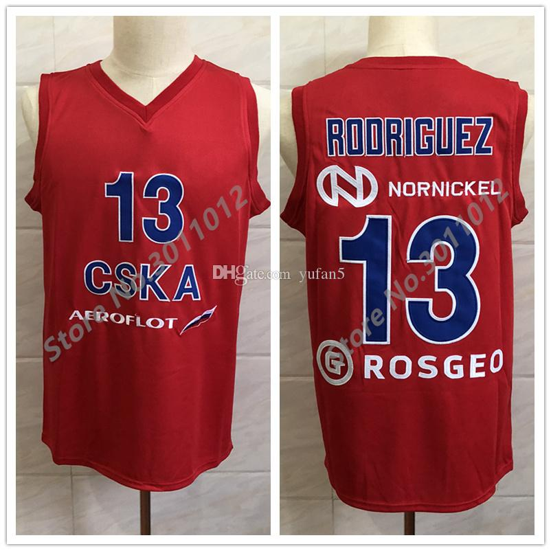 b1ec85431c5 2019 #13 SERGIO CHACHO RODRIGUEZ CSKA MOSCOW 2017/18 VTB LEAGUE Retro  Classic Basketball Jersey Mens Stitched Custom Number And Name Jerseys From  Yufan5, ...