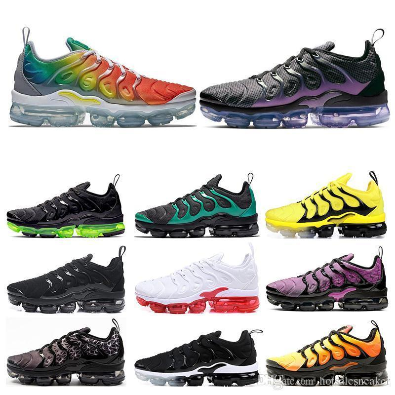 Men Women Running Shoes Rainbow Bumblebee Active Fuchsia Eagles Triple Black White women sports sneakers Size 36-45