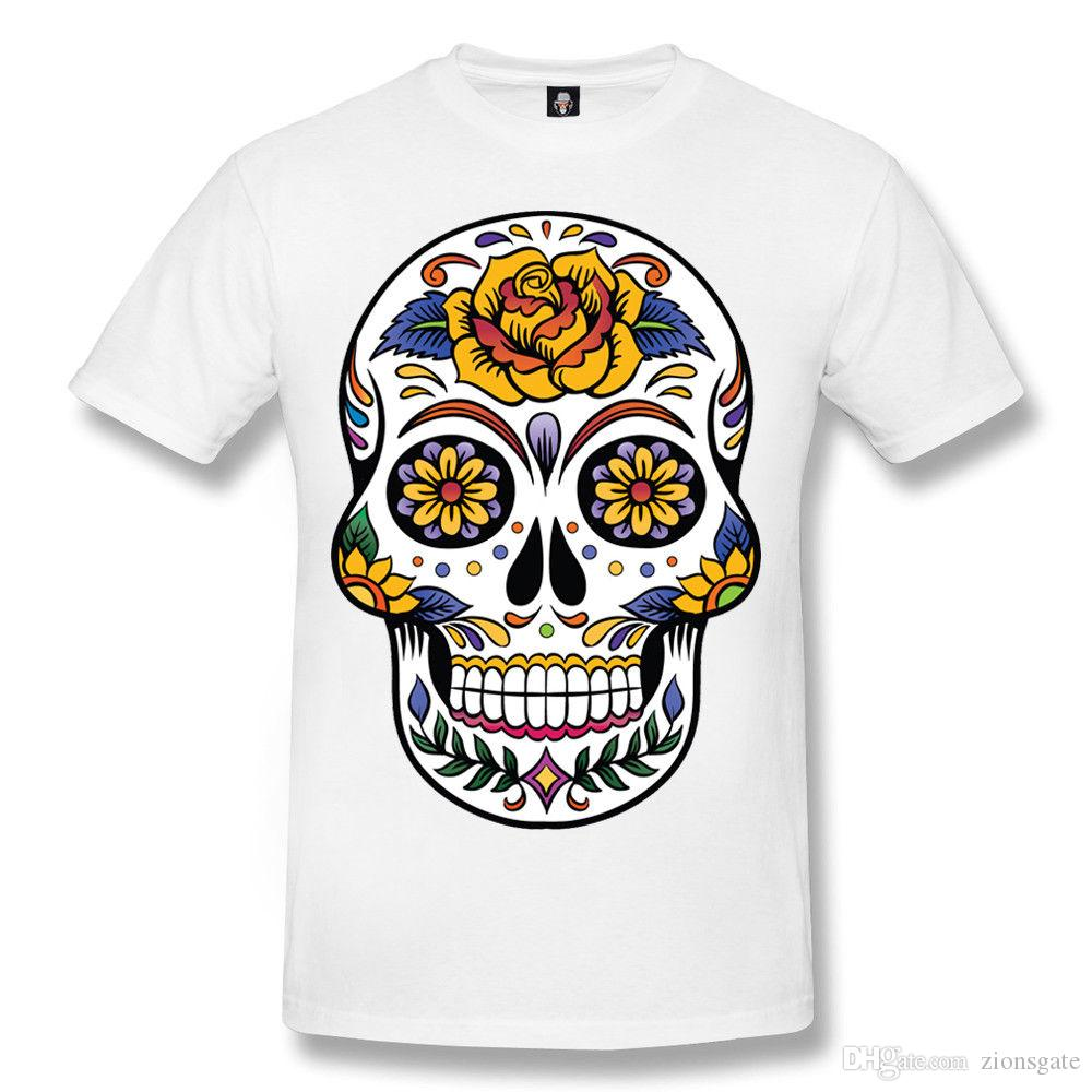 efcdcd25 SKULL TATTOO Mens T Shirt/Skull/Rock/Day Of The Dead/Biker/Goth/Sugar Skull/Top  Buy Shirts Online Print Shirts From Zionsgate, $10.82| DHgate.Com