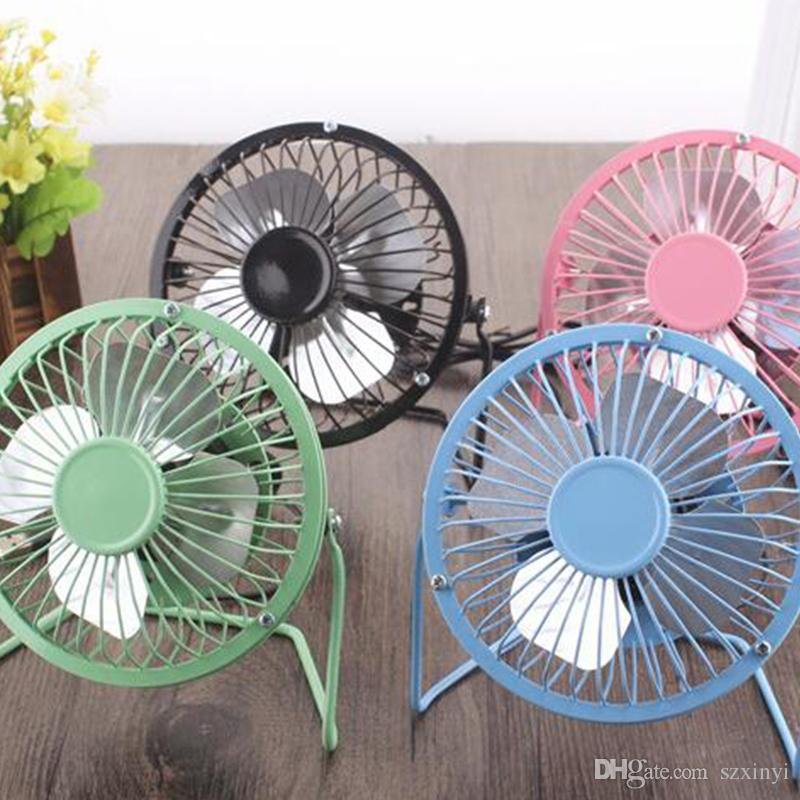 2019 Newest Released Aluminum leaf Quiet Mini Table Desk Personal Fan and Portable Metal Cooling Fan for Office Home High Compatibility