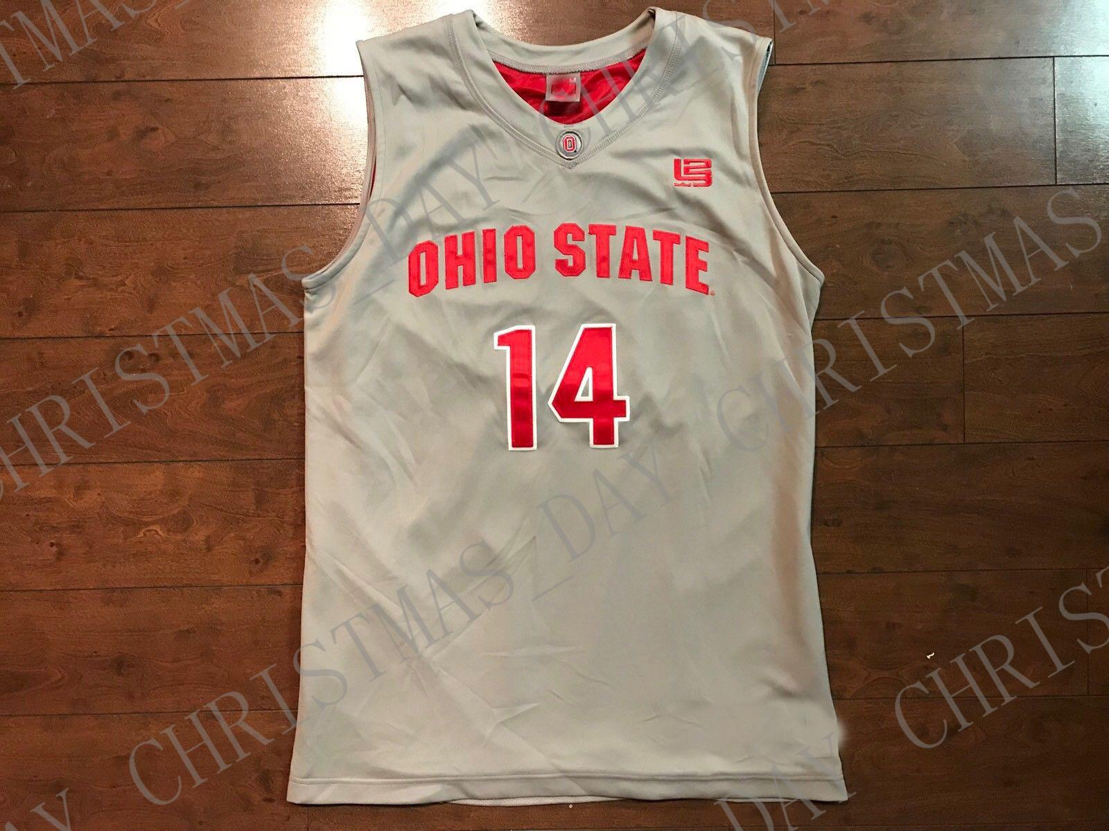 pretty nice efa0d dd49a Cheap custom Ohio State Buckeyes #14 Lebron James Basketball Gray Jersey  Stitched Customize any number name MEN WOMEN YOUTH XS-5XL