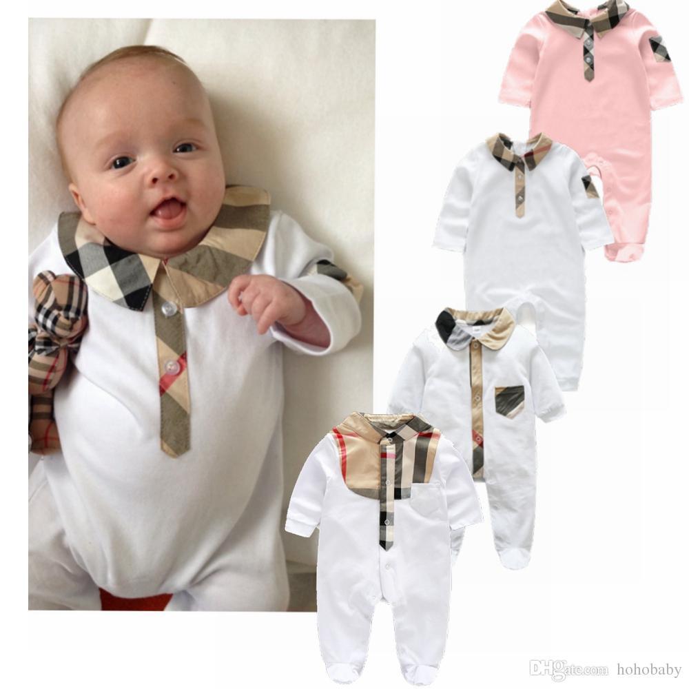 cheap for discount b9f20 d6e77 Neugeborenes Baby Kleidung Babyworks One Pieces Baby Strampler Infant  Jungen Mädchen Langarm Overalls Kleidung Baby Strampler
