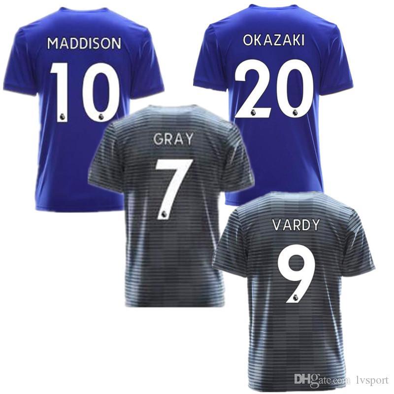 Compre Top AAA Tailândia Qualidade Leicester Cidade Casa Camisola De  Futebol MORGAN CINZA ALBRIGHTON 18 19 VARDY MAGUIRE Camisa De Futebol Fora  Leicester ... 42637e6277d45
