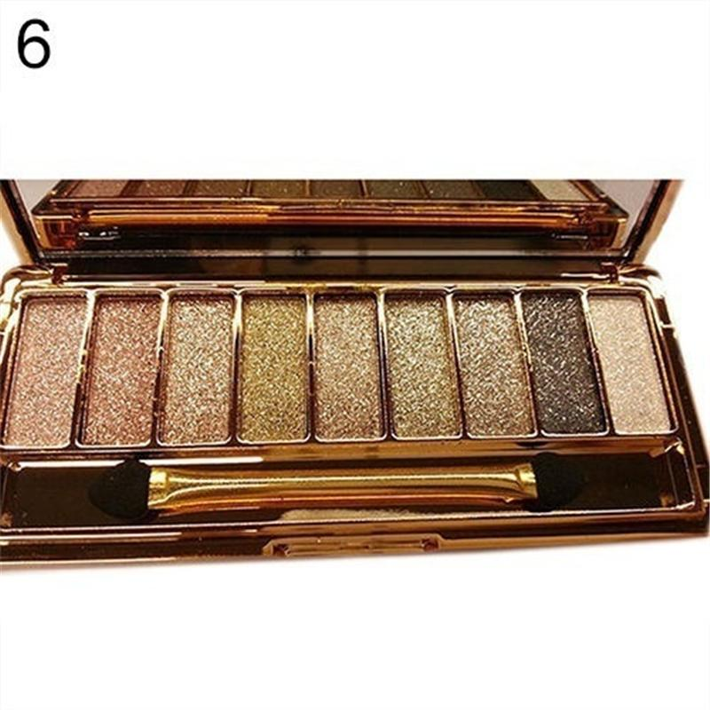 9 nuevos colores brillo gama de colores del maquillaje de larga duración a prueba de agua mineral en polvo sombra de ojos cosmético Kit