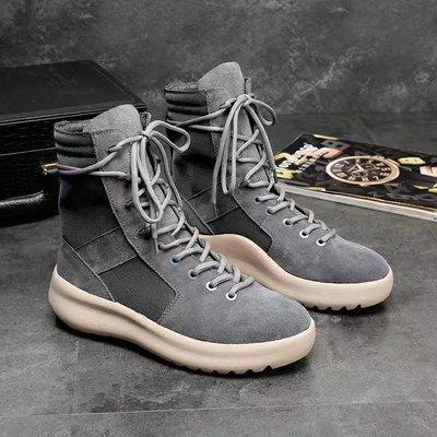 hot KANYE Brand high boots Best Quality Fear of God Top Military Sneakers Hight Army Boots Men and Women Fashion Shoes Martin Boots 38-45 y0