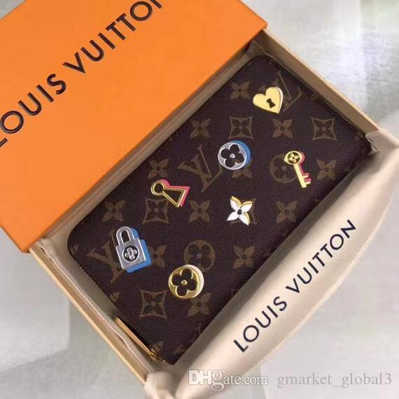 e58e52dfbd Hot ZIPPY GELDBÖRSE M64116 Damen Tasche Reißverschluss Geldbörse Mini  Münztüte Luxus Designer Kleine Ledertasche Weibliche Hand mit Brieftasche