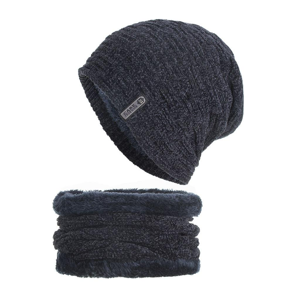 Adults Anchor Elastic Knitted Beanie Cap Winter Warm Skull Hats