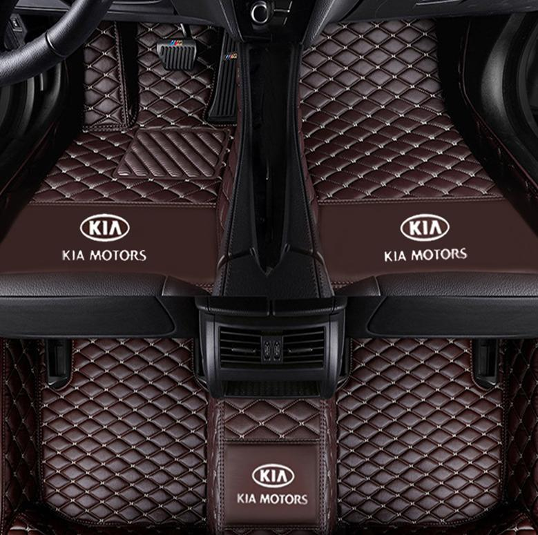 Applicable to Kia Carnival 2015-2017 car mat luxury surrounded by indoor waterproof leather green carpet stitching mat