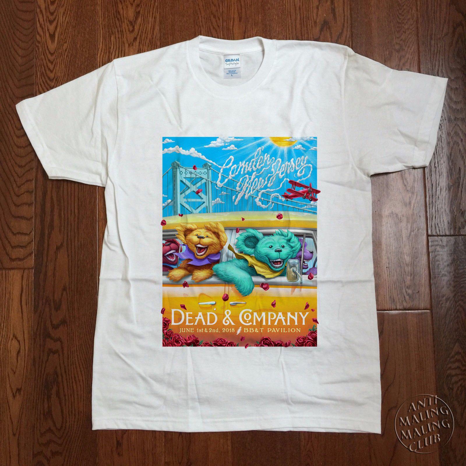 Dead And & Company Tour 2019 T Shirt CAMDEN NJ Grateful Dead Concert S -  3XL Summer Men S fashion Tee 2019 fashion t shirt