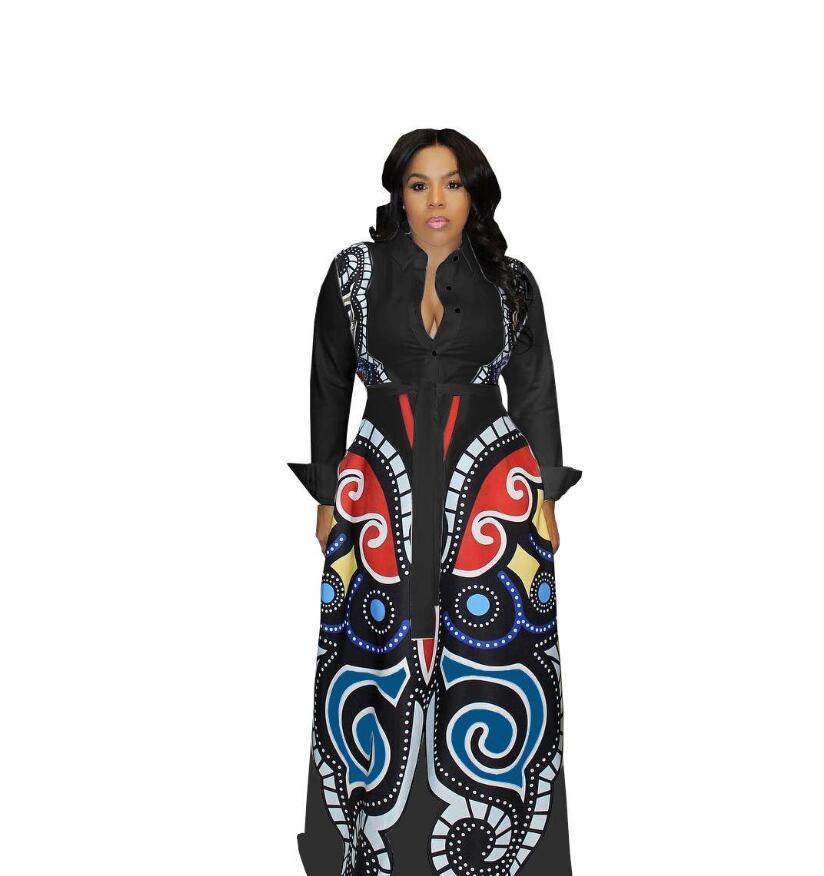 ae0ed8f0fc9b Rose Red Large Swing African Print Dresses Women Clothes Plus Size Sexy  Elegant Butterfly Print Dress Robe Africaine Design Clothings Black Dress  Womens ...